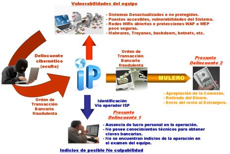 estafa cibernetica con usurpación de IP