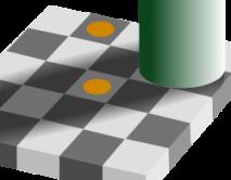 efecto optico sombra y cuadricula