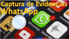 Captura evidencias WhatsApp